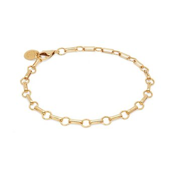 Bar & Ring Chain Bracelet - Gold