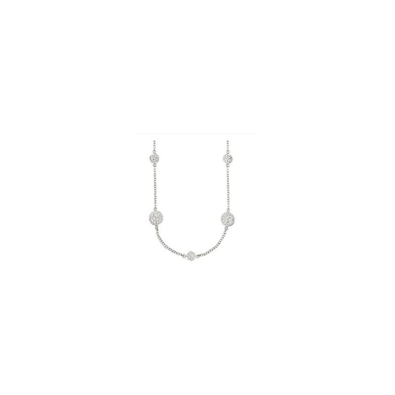 Anna Beck ANNA BECK DOTTED DISC STATION NECKLACE - SILVER