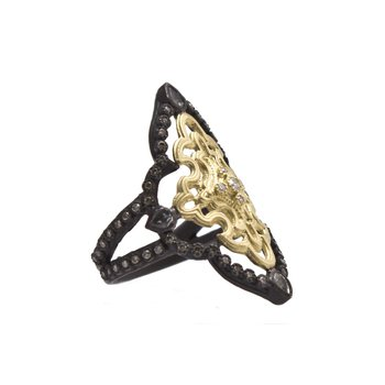 ARMENTA OLD WORLD OPEN SCROLL RING