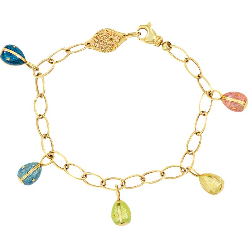 Faberge Signature Egg Charm Bracelet