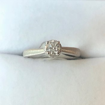 White 14k Engagement Ring