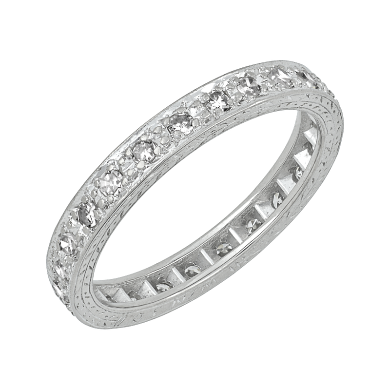 Estate Jewelry Vintage Hand Engraved Band