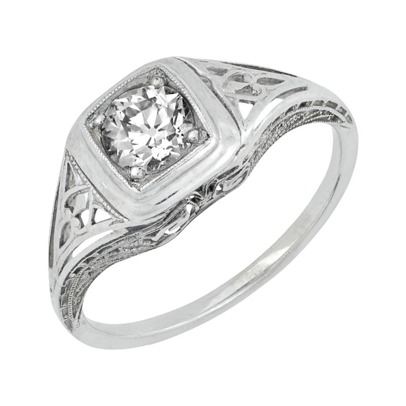 Estate Jewelry Vintage Filigree Engagement Ring