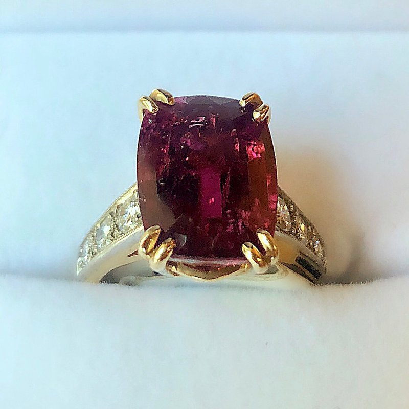 Estate Jewelry Rubellite Fashion Ring