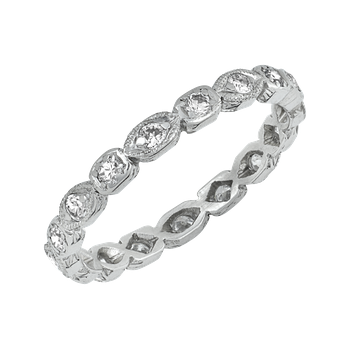 Vintage Platinum Eternity Band