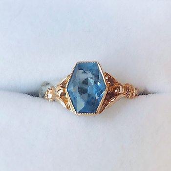 Vintage Cobalt Blue Stone Ring