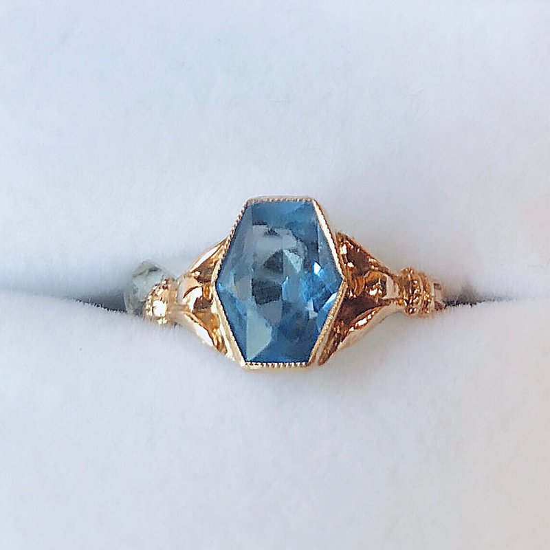 Estate Jewelry Vintage Cobalt Blue Stone Ring