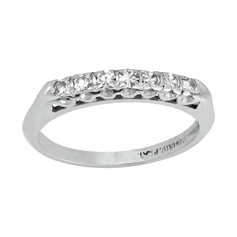 Estate Jewelry Vintage Platinum Wedding Band