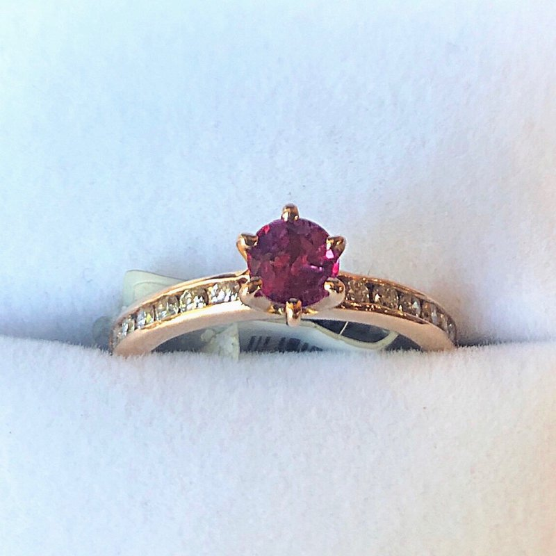 Estate Jewelry Rose Gold Ruby Ring