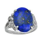 Estate Jewelry Vintage Diamond and Lapiz Lazuli Ring