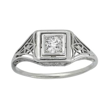 Vintage Filigree Engagement Ring