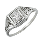 Estate Jewelry Vintage Filigree Engagement Ring