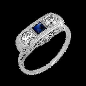 Vintage Two Stone Diamond Ring