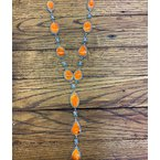 F.A.T Native NM Orange Necklace and Earring Set