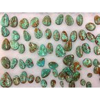F.A.T Turquoise Cabochons Birdseye Green Mexico