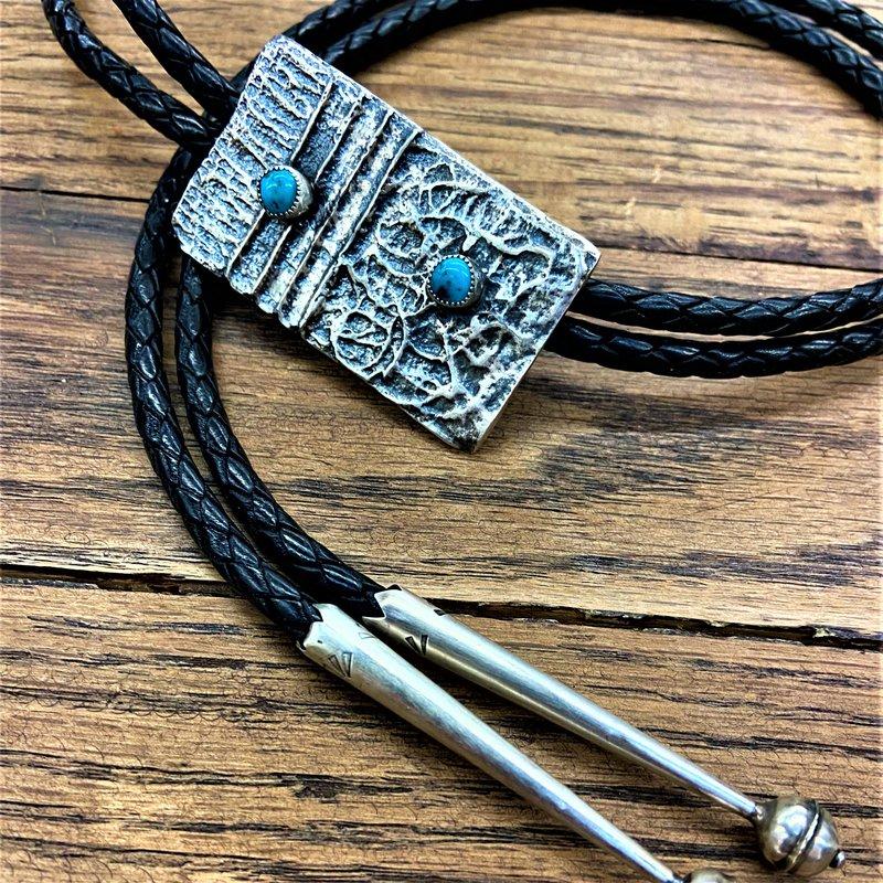 F.A.T Native NM Double Stone Bolo Tie
