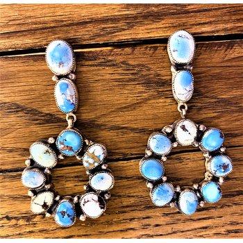 Light Circle Stone Earrings
