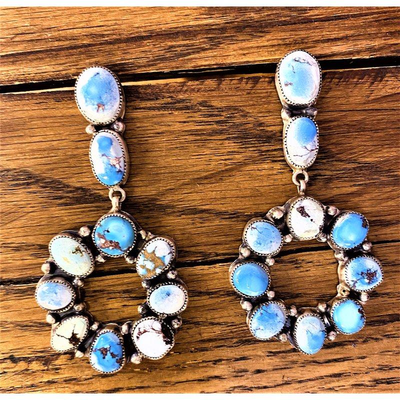 F.A.T Earrings Light Circle Stone Earrings