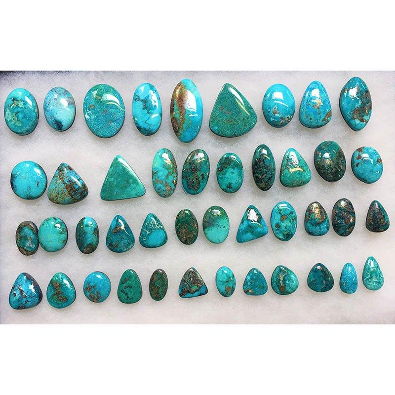F.A.T Turquoise Cabochons Blue Ridge China