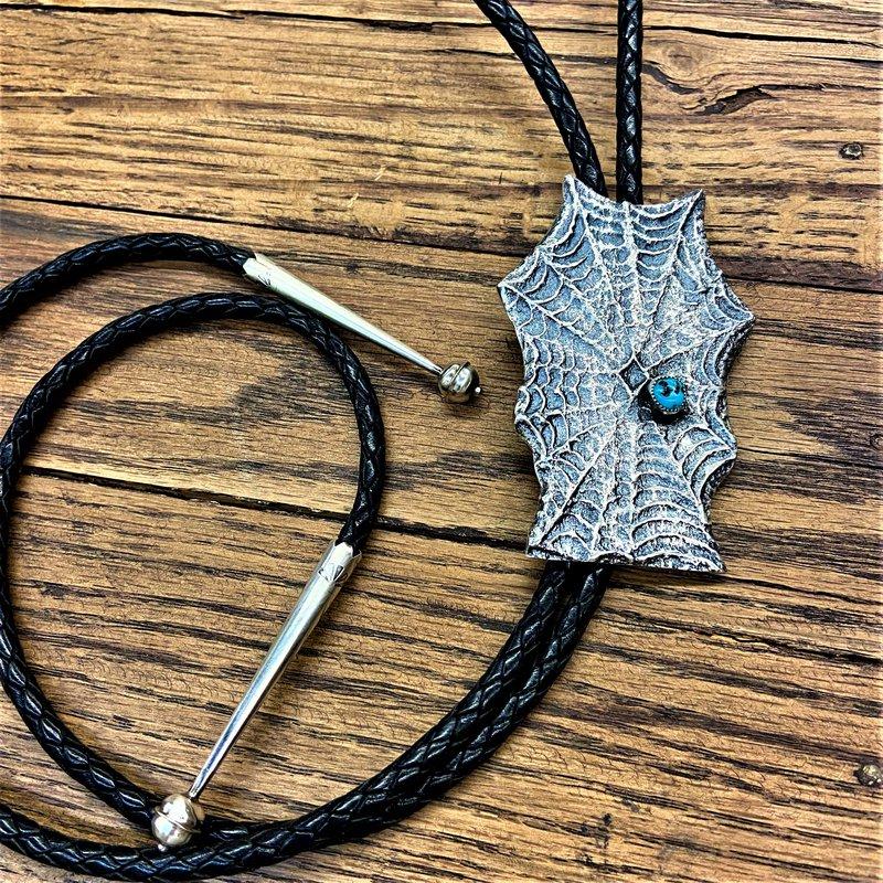 F.A.T Native NM Spiderweb Bolo Tie