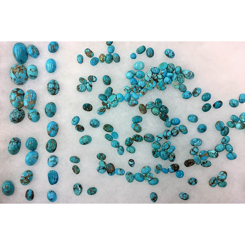 F.A.T Turquoise Cabochons Persian Blue