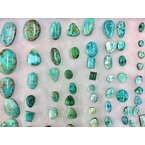 F.A.T Turquoise Cabochons Carico Lake Nevada