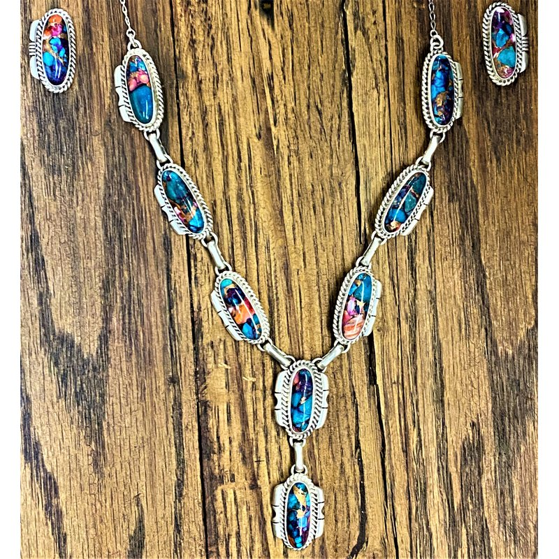 F.A.T Native NM Daliah Stone Necklace and Earring Set