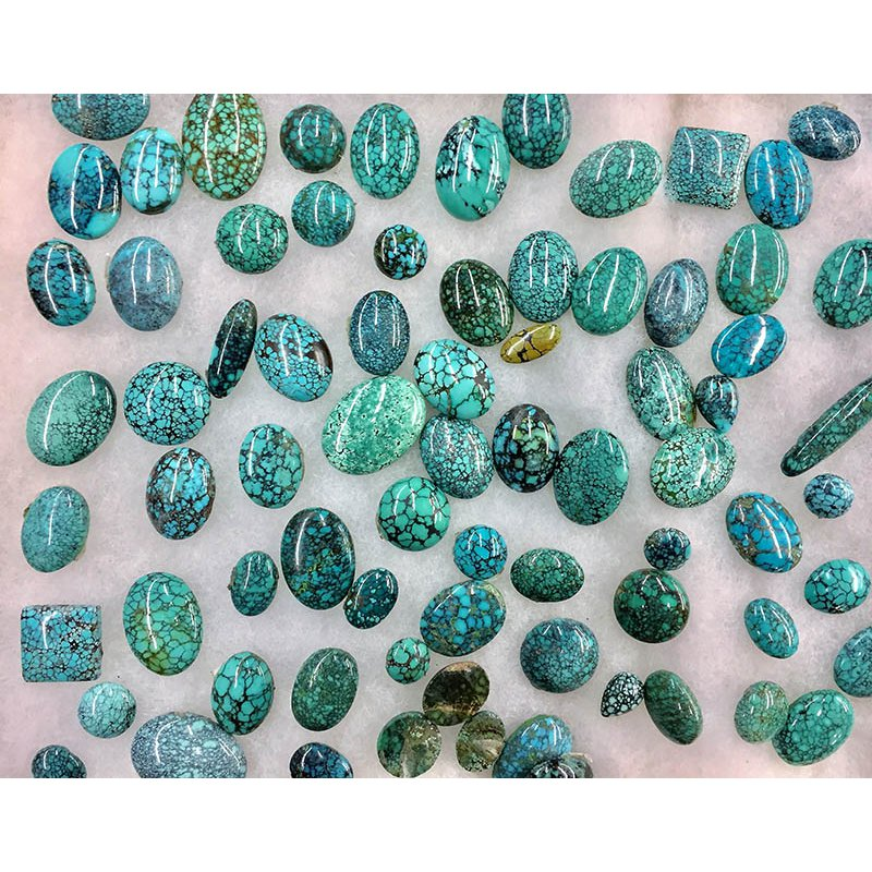 F.A.T Turquoise Cabochons Hubei Web Green China