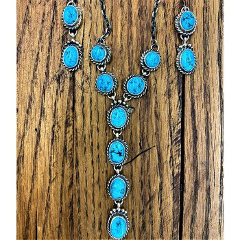 Beveled Necklace and Earring Set