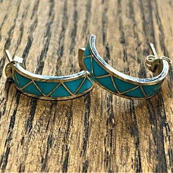 Mini Zig Zag Hoop Earrings