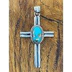 F.A.T Pendants Single Stone Cross Pendant