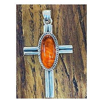 Single Stone Cross Pendant