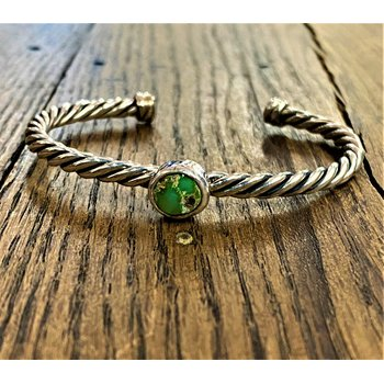 Twisted Bracelet with Caps