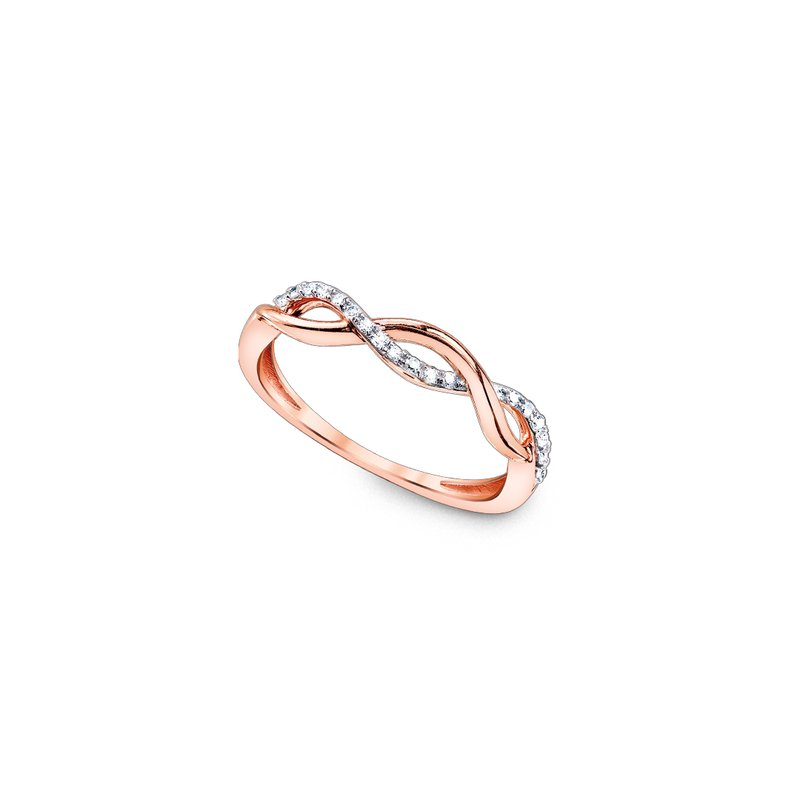 Simmons & Clark Two Hearts Collection Rose Gold Twist Ring