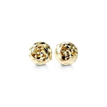 10K Diamond Cut Stud Earrings
