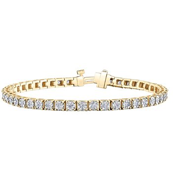 10KY 1.00CTW Diamond Tennis Bracelet