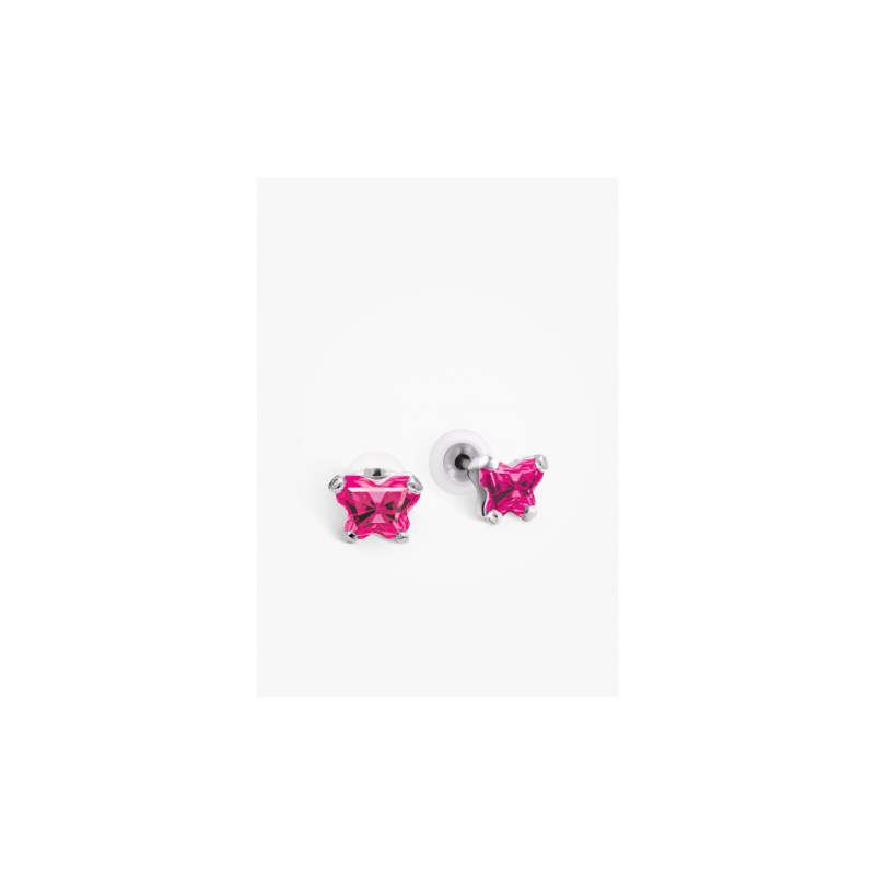 Bfly July Birthstone Earrings