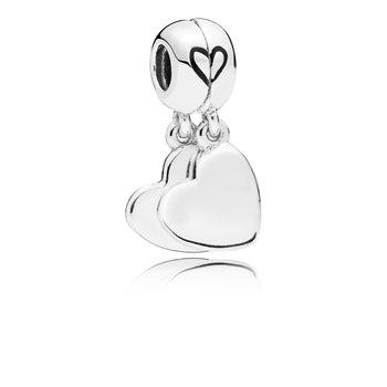 Mother & Son Heart Split Dangle Charm