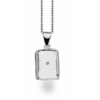 Rectangle Locket Diamond Pendant
