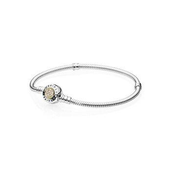 "Moments Logo Clasp Snake Chain Bracelet, 6.7"" - FINAL SALE"