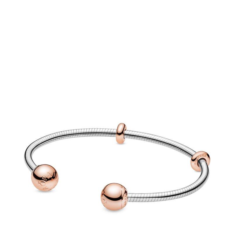 Moments Snake Chain Style Open Bracelet, 6.9