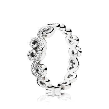 Heart Swirls Ring, size 4.5 - FINAL SALE