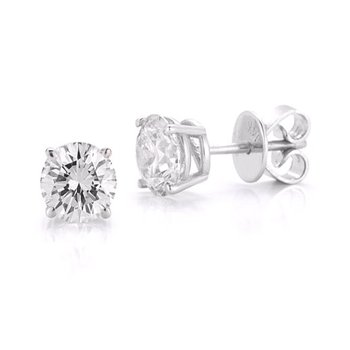 14k Diamond Stud Earrings, 0.50 TDW