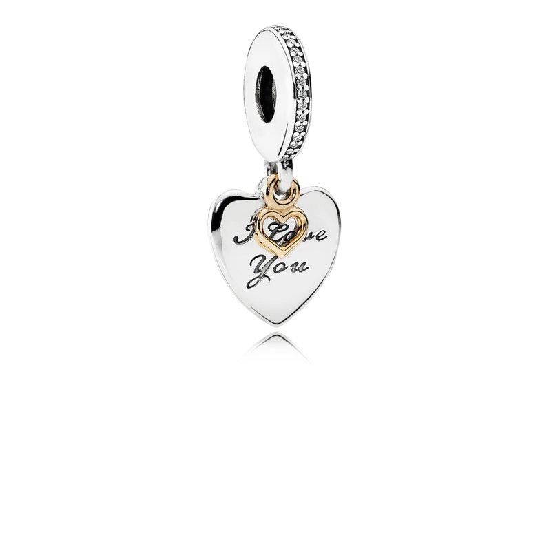 Pandora I Love You Forever Dangle Heart Charm