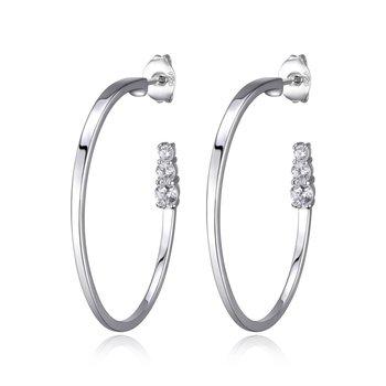 Sterling Silver 30 x 20mm Hoop Earrings