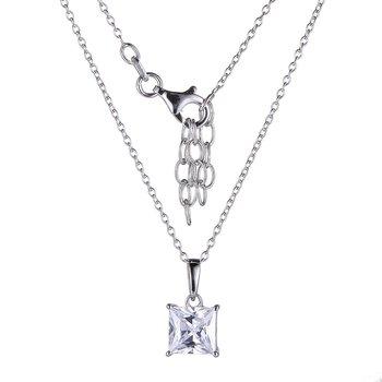 Sterling Silver CZ Solitiare Penant & Chain