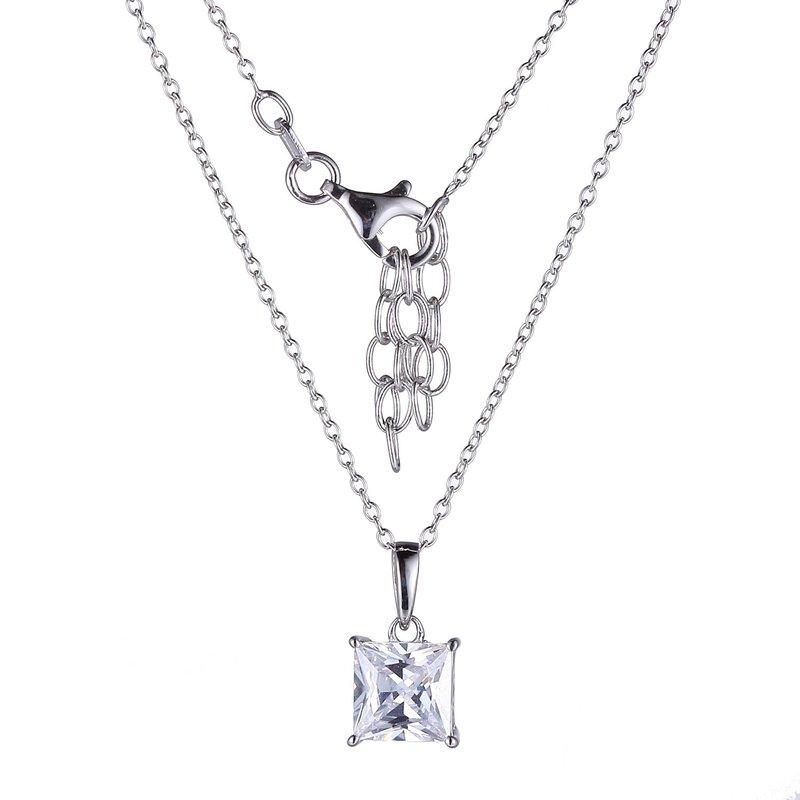 Reign Sterling Silver CZ Solitiare Penant & Chain