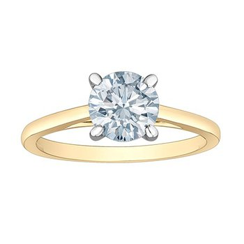 14K Lab Grown Diamond Solitaire, 1.50 TDW