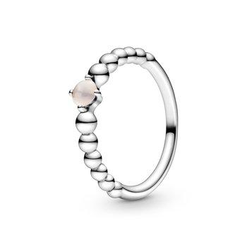 June Misty Rose Beaded Ring, size 6.0