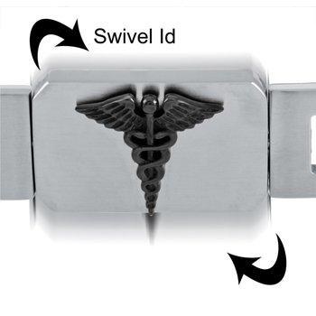Heavy Medical Bracelet with Black I.D
